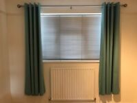 Teal curtains in excellent condition