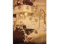 7 piece caramel kisses cot bed set and musical mobile