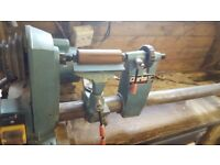 Wood lathe, with tools,