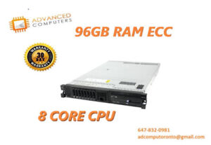 x3650 M2 – 2x Intel Xeon E5530 2.40 GHz, 96GB, 4x300GB 2.5""