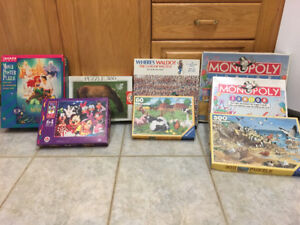 Assorted puzzles and games
