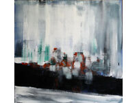 Abstract painting Acrylic on board