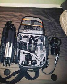 Olympus E-450, 2 lenses, bag + accessories
