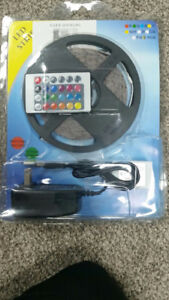Led RGB Strip lights 5 meter remote controlled flashing 25 $