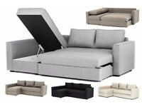 **2 YEAR WARRANTY!** Boston Luxury Fabric Corner Sofa and Sofabed - BRAND NEW!