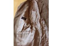 Men's Vintage Jaeger Herringbone Tweed tan brown blazer Jacket