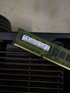 Brand new Samsung DDR3 ECC registered 4GB sticks