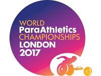Para Athletes Tickets 2017 URGENT London