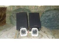 2 sets of speakers = medium & portable.