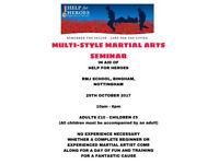 Multi Style Martial Arts Seminar in Aid of Help for Heroes