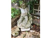 Ceramic garden statue and rock for sale