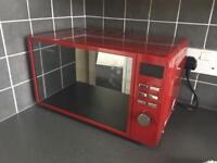 Russel Hobbs red microwave