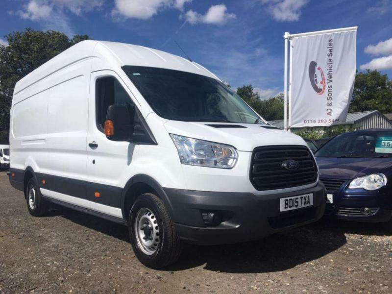 2015 15 FORD TRANSIT 2.2 TDCI 350 HIGH ROOF XLWB 124 BHP DIESEL