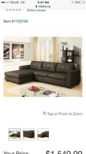 Brand new -unopened - brown sectional/ chaise