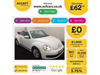 VOLKSWAGEN BEETLE 1.4 TSI 160 DESIGN 2.0 TDI 1.2 TSI SPORT FROM £62 PER WEEK!