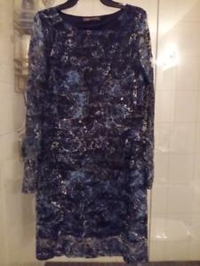Suzy Shier Navy Dress Size L NEW never worn