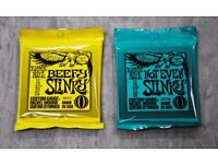 Ernie Ball Electric Guitar Strings Beefy Slinky & Not Even Slinky £6.99