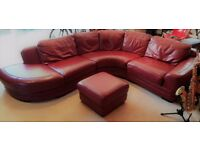 Luxury leather corner sofa grouping (Coleraine)