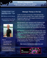 Therapeutic massage with a focus on posture and deep-tissue