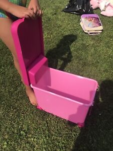Barbie box to hold Barbie toys and accessories