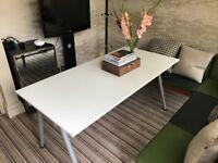 Large Modern White Table 180 x 60