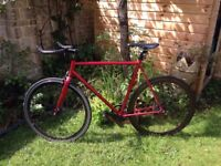 state bicycle fixie, 700c, flip flop hub.