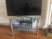 John Lewis Glass and Chrome tv stand