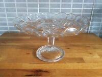 Vintage cake plate no damage could be used for cake or to display of candles.