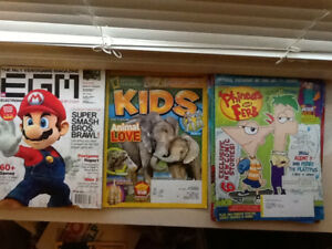 Different gaming, Phineas and Ferb and KIDS magazines