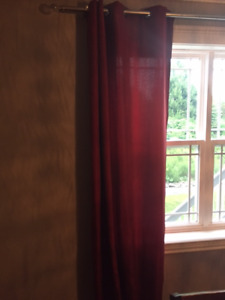 Like new burgundy/red drapes from Bouclair
