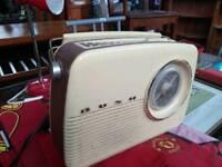 Bush retro design DAB Radio in Classic Cream.