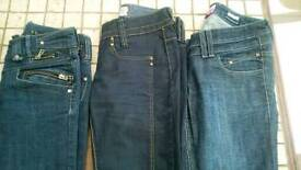 River Island jeans size 8 & 10 x3 paire