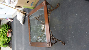 Antique like wrought iron coffee table