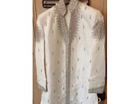 Mens Designer Grooms Indian Wedding Suit Sherwani & 2 x Shoes - New - RRP £310