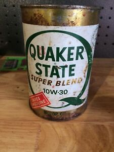 Quaker State Motor Oil Can