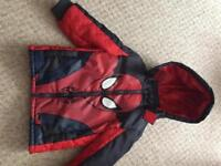 Spider-Man lightweight kids jacket size 3-4