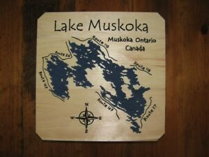 Hand Carved Lake Muskoka Signs