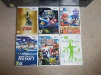 Nintendo Wii + Fit + Games Bundle