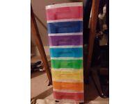 Kids/Childrens Multi Coloured Plastic Drawers