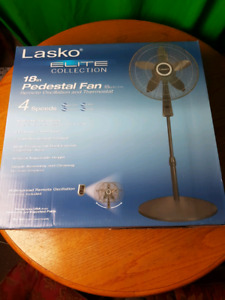 "New in Box LASKO 18"" ELITE COLLECTION PEDESTAL FAN"