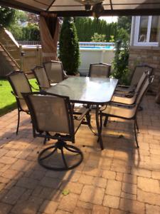Ensemble de Patio Table avec 8 chaises