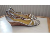 Boden silver wedge sandals, size 37