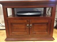 Media Center - Set of two classy real wood cabinets, excellent condition