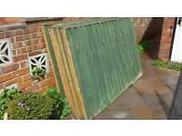 4ft x 6t feather board fence panels