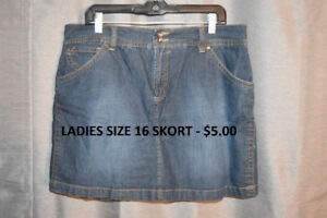 Ladies Size 16 Skorts/Capris/Jeans/Skirts