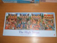 Jigsaw multipack - 'The High Street' 4 @ 500 pieces. 4 views from the 20th Century streetscene