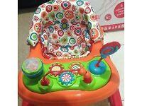Redkite Baby Go Round Twirl Brights Baby Walker(Only 3 weeks used) + Box
