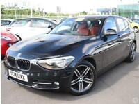 Bmw 1 116d 2.0 Sport 5dr Red Leather