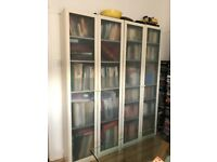 IKEA Billy Bookcase with glass doors x 3