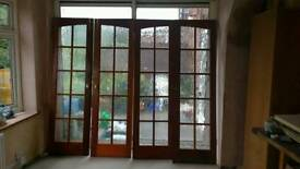 Two Pairs of Fully Glazed Interior Double Doors